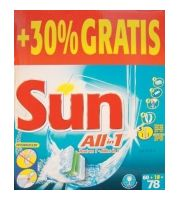 Tablettes lave-vaisselle Sun all-in-one