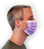 Masque de protection jetable type chirurgical